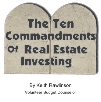 Ten Commandments Of Real Estate Investing.